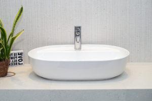 Umywalka nablatowa Aquahome Cambiera 61x401x12 cm