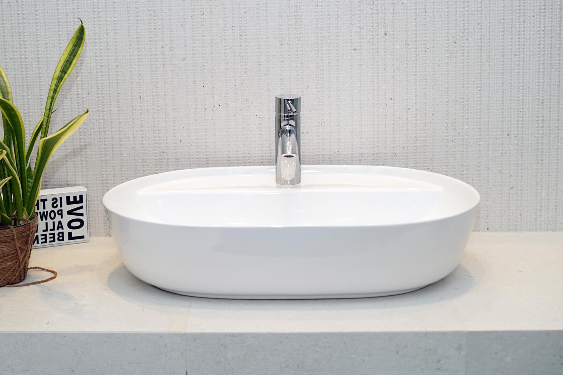 Umywalka nablatowa Aquahome Cambiera 62x41x13,2 cm