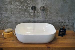 Umywalka nablatowa Aquahome Viviana  490x395x150 mm