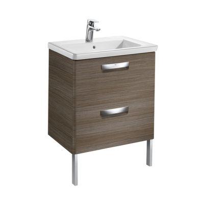 Zestaw łazienkowy Unik z 2 szufladami (szafka+umywalka) Roca Gap Original 60x44x64,5 cm teak A851467456