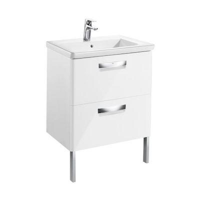 Zestaw łazienkowy Unik z 2 szufladami (szafka+umywalka) Roca Gap Original 60x44x64,5 cm biały połysk A851464806