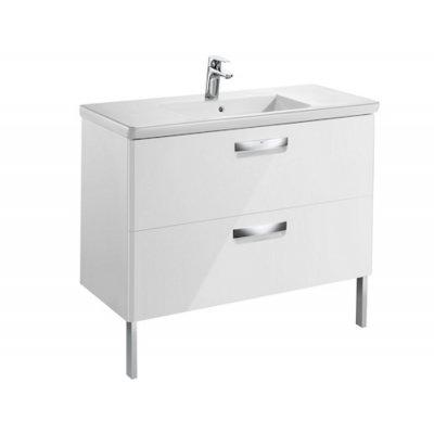Zestaw łazienkowy Unik z 2 szufladami (szafka+umywalka) Roca Gap Original 100x44x64,5 cm biały połysk A851466806
