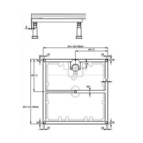 Zdjęcie Stelaż metalowy dla brodzików Huppe EasyFlat 100 x 100 cm 215492000