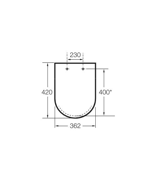 Zdjęcie Deska WC Compacto wolnoopadająca SUPRALIT Roca Meridian biały A8012AC00B