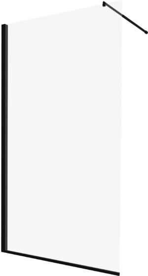 Kabina prysznicowa czarna Deante Abelia Walk-In 140 cm KTA_N34P