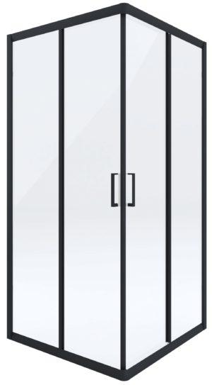 Kabina prysznicowa czarna Deante Funkia kwadratowa 90 cm szkło transparentne KYC_N41K