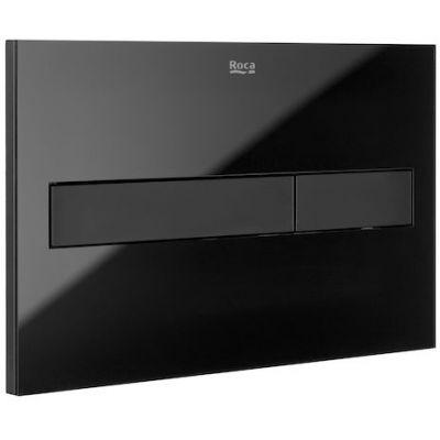 Roca PL7 - przycisk podwójny spłukujący do WC czarny mat / szkło połysk A890188308