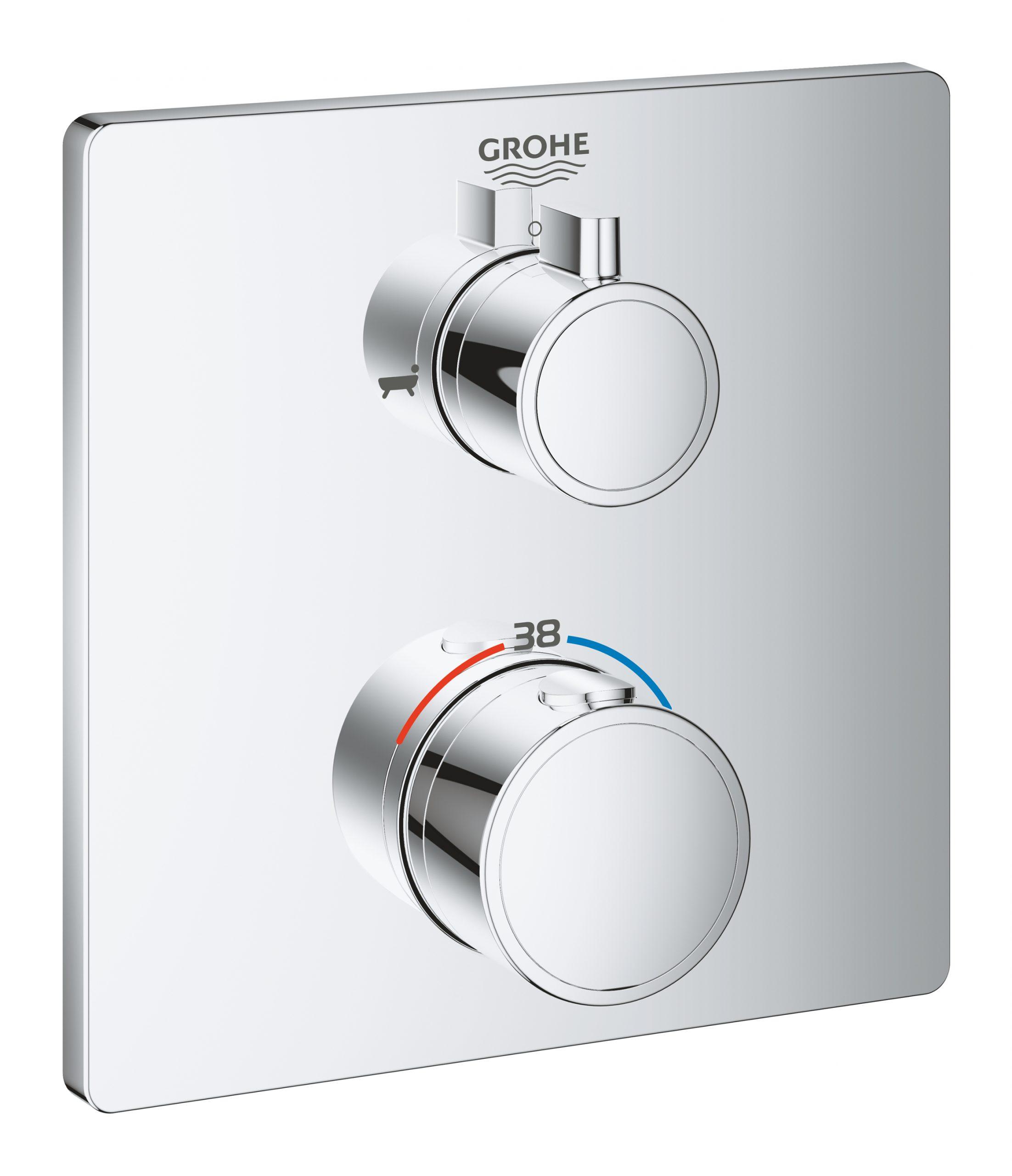 Bateria termostatyczna Grohe Grohtherm do obsługi dwóch wyjść wody chrom 24080000