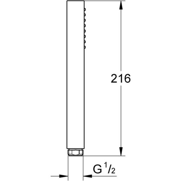 Zdjęcie GROHE Euphoria Cube+ Stick – jednostrumieniowy prysznic ręczny hard graphite 27888A00