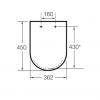Zdjęcie Deska WC wolnoopadająca SUPRALIT ® Roca Meridian biały A8012A200B
