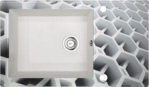 Deante Capella Zlewozmywak szklano-granitowy 1-komorowy z ociekaczem ZSC_AC2C