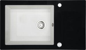 Deante Capella Zlewozmywak szklano-granitowy 1-komorowy z ociekaczem ZSC_AX2C