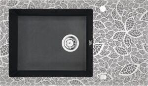 Deante Capella Zlewozmywak szklano-granitowy 1-komorowy z ociekaczem ZSC_GN2C