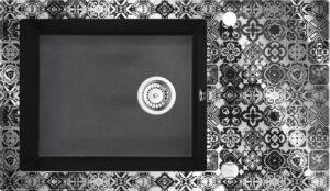 Deante Capella Zlewozmywak szklano-granitowy 1-komorowy z ociekaczem ZSC_GP2C