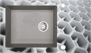 Deante Capella Zlewozmywak szklano-granitowy 1-komorowy z ociekaczem ZSC_SC2C