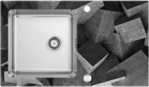 Deante Pallas Zlewozmywak szklano-stalowy 1-komorowy z ociekaczem ZSP_0B2C