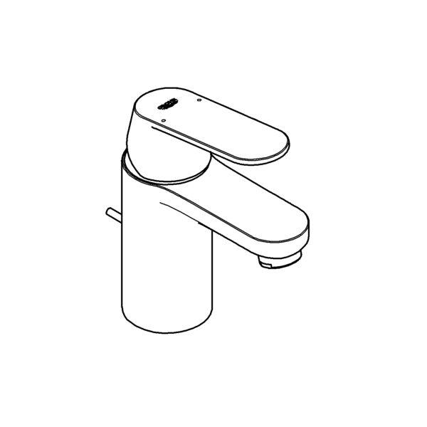 Zdjęcie Jednouchwytowa bateria umywalkowa Grohe Eurosmart Cosmopolitan chrom 3282500E