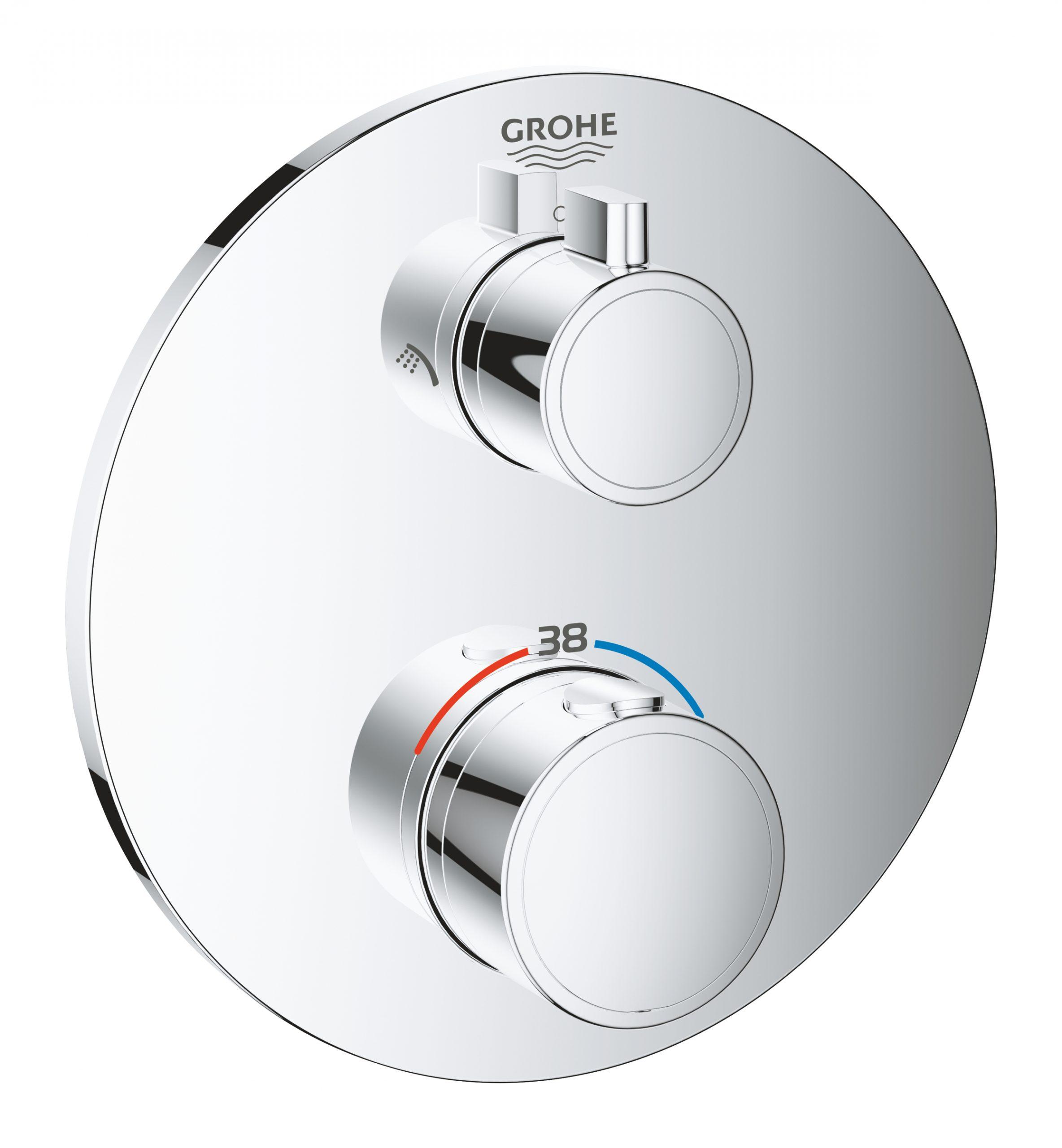 Bateria termostatyczna Grohe Grohtherm do obsługi dwóch wyjść wody chrom 24076000
