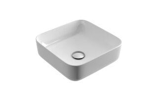 Umywalka nablatowa Actima - Excellent Cori 38,5x38,5 cm kwadratowa biały CEAC.2201.WH