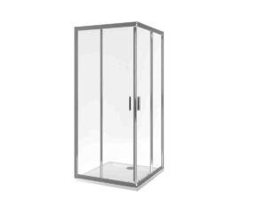 Kabina prysznicowa narożna 190x80 cm 2 – drzwiowa ze ścianką stałą Actima - Excellent 201 KAAC.1802.800/N