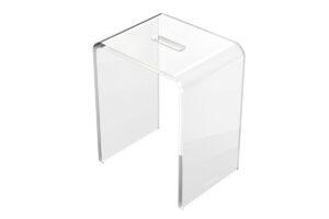 Stołek łazienkowy akrylowy przezroczysty Excellent Zen DOEX.1103.350.TR