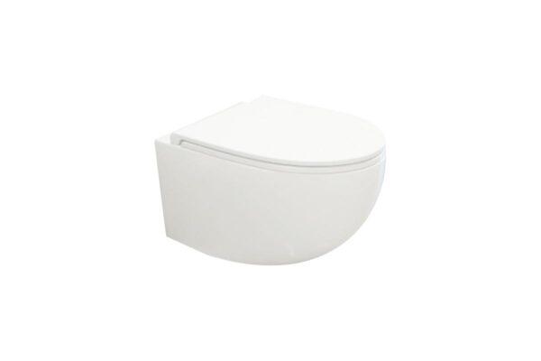 Zdjęcie Miska WC wisząca bez kołnierza Excellent Bull 53×36 cm biały CESD.WCSBLR