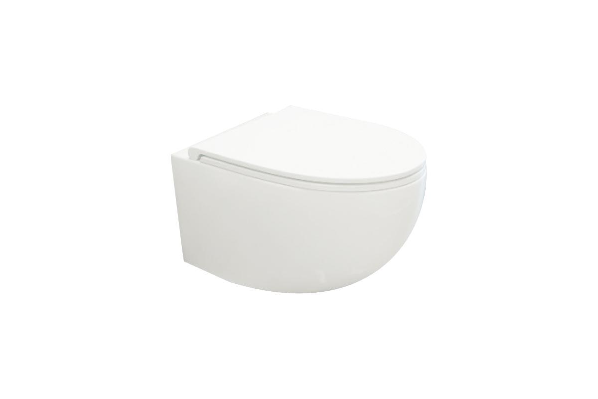 Miska WC wisząca bez kołnierza Excellent Bull 53x36 cm biały CESD.WCSBLR