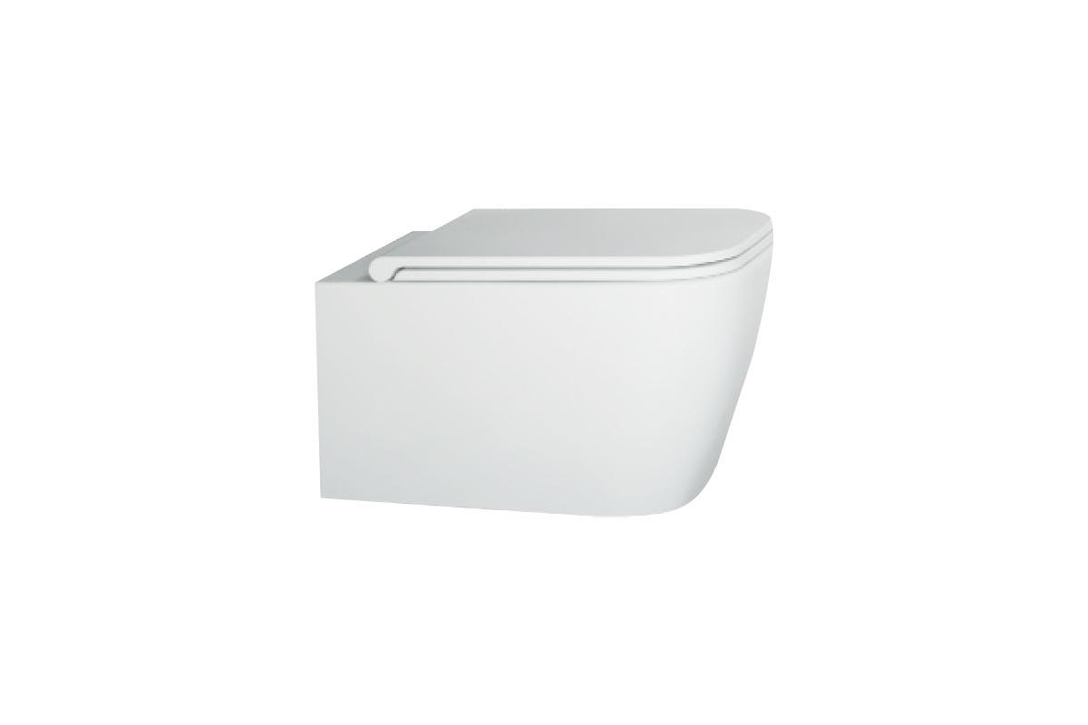 Miska WC wisząca bez kołnierza Excellent Quadra 55x36 cm biały CESD.WCSQDR