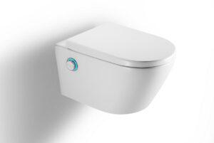 Miska WC wisząca z funckją bidetu z deską wolnoopadającą Excellent Dakota D1 biały 59,3x37 cm CENL.4020.593.D1.WH