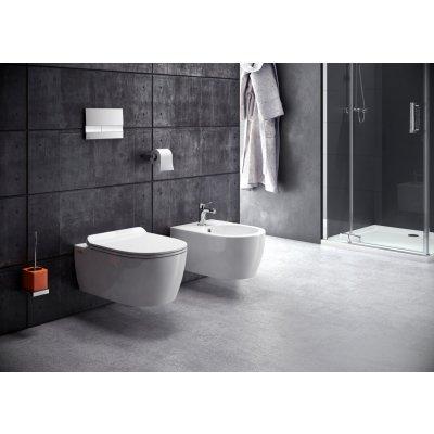 Zdjęcie Miska WC wisząca bez kołnierza z deską wolnoopadającą biała Excellent Doto Pure 48,5×36,5 biały CEEX.1404.485.WH