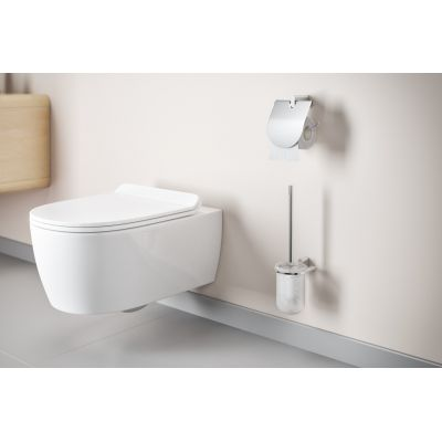 Zdjęcie Miska WC wisząca bez kołnierza z deską wolnoopadającą biała Excellent Doto Pure 54,5×36 cm biały CEEX.1404.545.WH