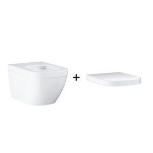 GROHE Euro Ceramic - miska WC wisząca biała + deska wolnoopadająca 39328000 + 39330001 .