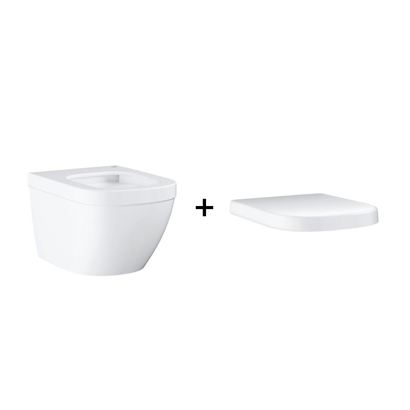 GROHE Euro Ceramic - miska WC wisząca krótka biała 39206000 + 39330001 .