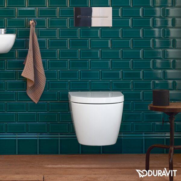 Zdjęcie Miska WC Duravit ME by Starck Rimless HygieneGlaze wisząca 48×37 biała 2530092000 + Deska WC Duravit ME by Starck 0020190000