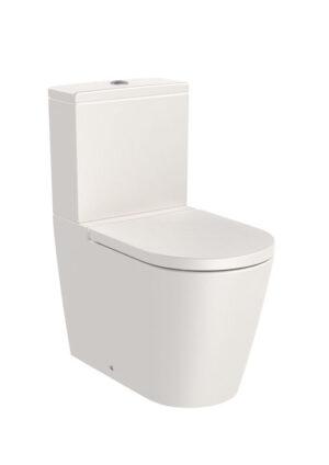 Miska WC do kompaktu Rimless Roca Inspira Round 37,5x64,5 cm beżowy A342526650