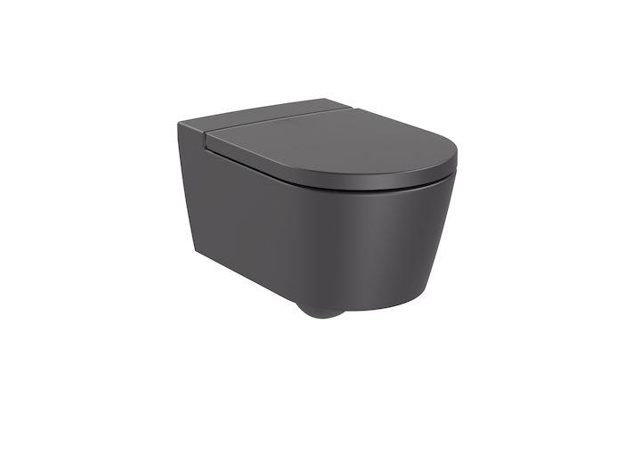 Miska WC wisząca Roca Inspira Round Rimless 37x56 cm onyks A346527640