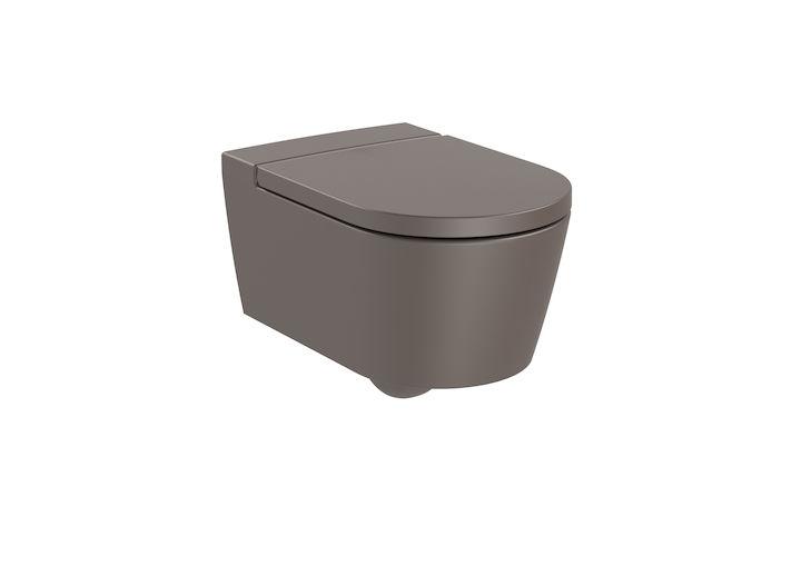 Miska WC wisząca Roca Inspira Round Rimless 37x56 cm cafe A346527660 @