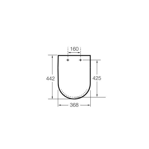 Zdjęcie Deska WC wolnoopadająca Roca Inspira Round Supralit onyks A80152264B