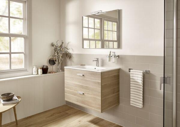 Zdjęcie Szafka łazienkowa 2 szuflady 70 cm Roca Victoria Basic brzoza A856682422 @