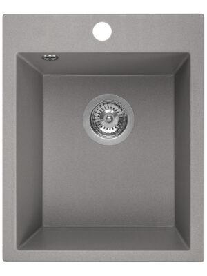 Zlewozmywak granitowy Laveo Chichi 48x39 cm 1-komorowy szary SBH_510T