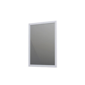 Lustro w ramie 60 cm Oristo Montebianco biały mat  OR47-L-RAOO-60-2