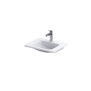Umywalka meblowa Oristo Cera ceramiczna biała 60 cm UME-CE-60-91
