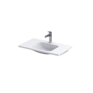 Umywalka meblowa Oristo Cera ceramiczna biała 80 cm UME-CE-80-91