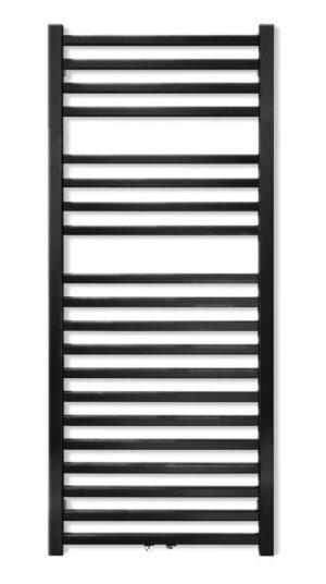 Grzejnik łazienkowy Zehnder Vision 117,6x50 cm black matt QV-120-050-05/0557