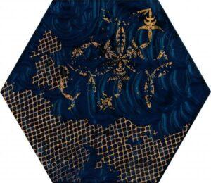 Inserto szklane Paradyż Intense tone Blue Heksagon A 19,8x17,1 cm (p)