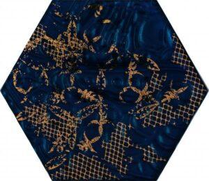 Inserto szklane Paradyż Intense tone Blue Heksagon B 19,8x17,1 cm (p)
