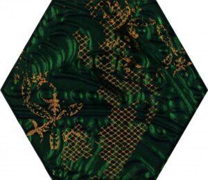 Inserto szklane Paradyż Intense tone Green Inserto Heksagon C 19,8x17,1 cm (p)