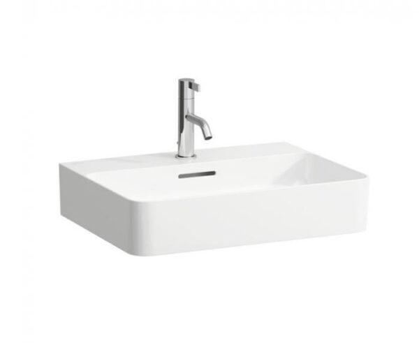 Zdjęcie Umywalka wisząca lub nablatowa Laufen Val 60×42 cm biały H8162830001041