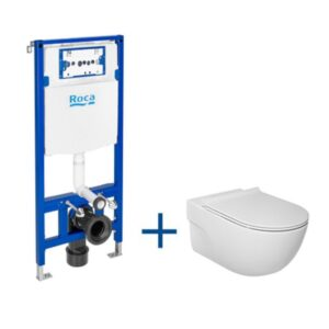 Zestaw podtynkowy DUPLO ONE + miska WC podwieszana Meridian RIMLESS z deską SLIM Roca Meridian  A893104520