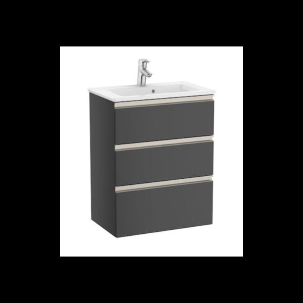 Zdjęcie Zestaw unik Roca Gap 60 cm, szafka z umywalką w. Compacto. antracyt połysk A851498153